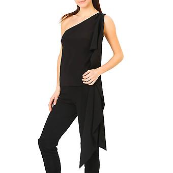 Annarita N Original Women Spring/Summer Top - Black Color 30802