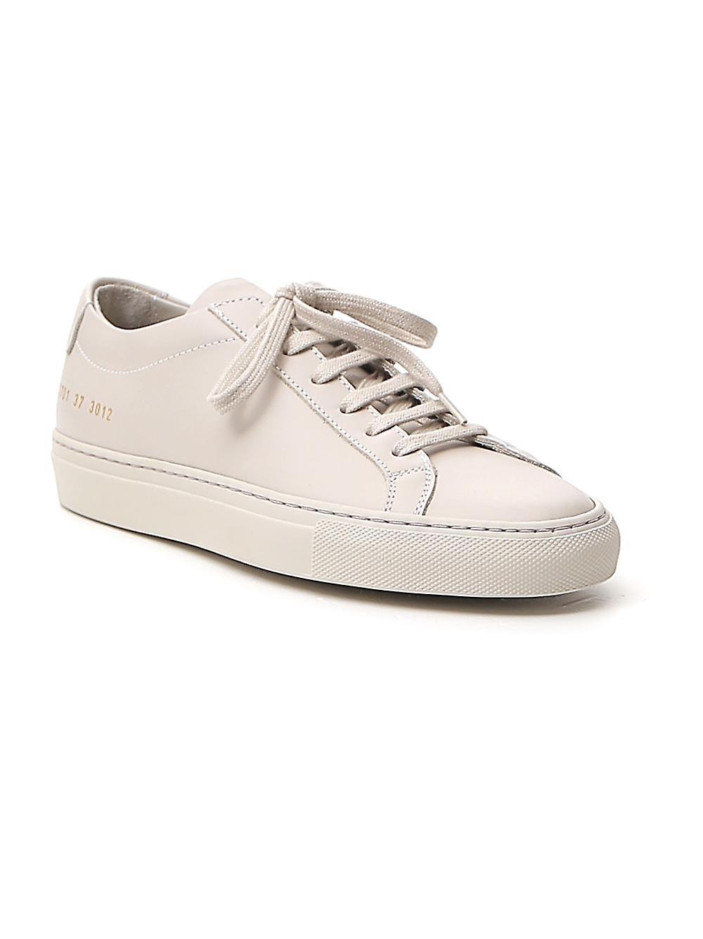Progetti comuni 37013012 Donne's Grey Leather Sneakers
