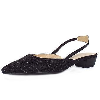 Peter Kaiser Castra Naiset's Dressy Low Heel Sandaalit Musta Hohto