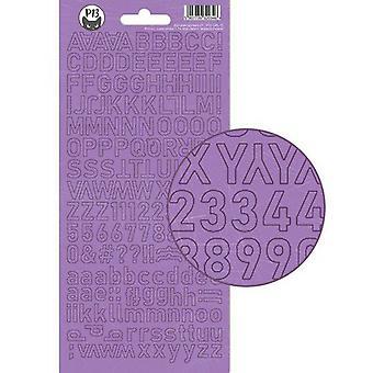 Piatek13 - Folha de adesivos alfabeto Menina Gangue P13-GRL-17 10.5x23cm
