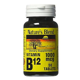 Nature's blend vitamin b-12, 1000 mcg, tablets, 50 ea