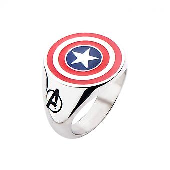 Captain America Shield rustfrit stål forgyldt ring