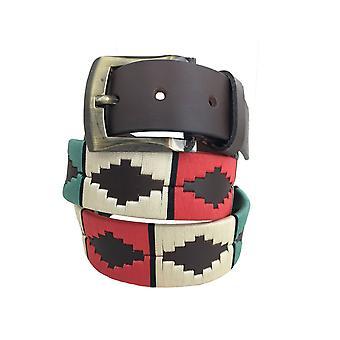 Carlos diaz unisex brun læder polo bælte cdupb98