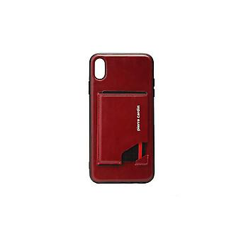 Pierre Cardin Apprendre backcover case Avec Cardholder iPhone XS Max - Noir
