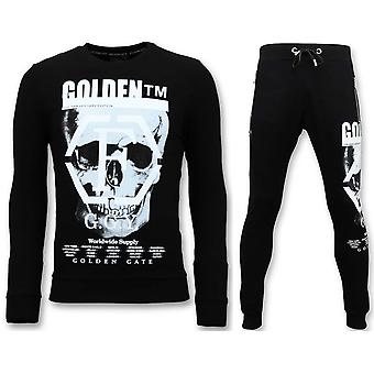 Tracksuit With Print - Skull - Black