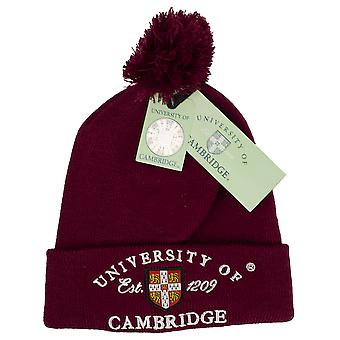 Licenseret Cambridge University™ POM POM Beanie skihat Maroon Colour