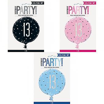 Unique Party Glitz Prismatic Age Foil Balloon
