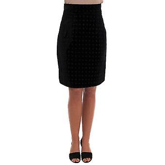 Dolce Gabbana темно зеленым бархатом барокко карандаш юбка--SKI1607280 &