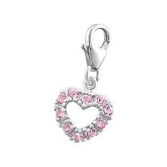 Heart - 925 Sterling Silver Charms With Lobster - W880x