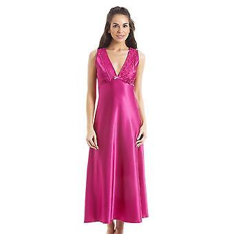 Camisa satén de encaje de color rosa Camille lujo