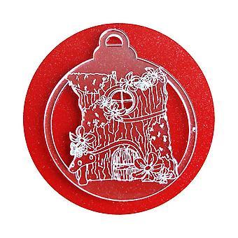 6 Pk の妖精ツリーハウス アクリル クリスマスの装飾