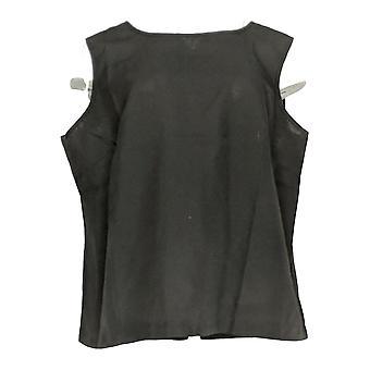 Serengeti Women's Plus Top Straight Hem Tank Top Black