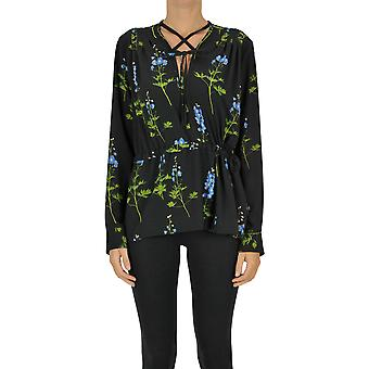 Dries Van Noten Ezgl093167 Women's Black Polyester Blouse