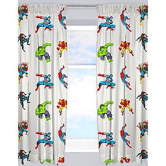 Marvel Comics Avengers Grey Curtains 168cm x 183cm