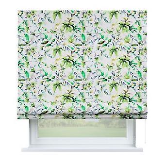 Raffrollo Capri, wit-groen, 100 x 170 cm, Fluweel, 704-20