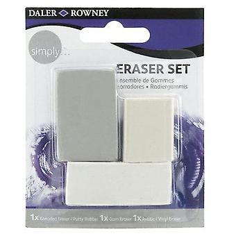 Daler Rowney Simply Eraser Set