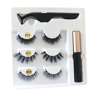 YANGFAN Magnetic Liquid Eyeliner Mixed False Eyelashes Set