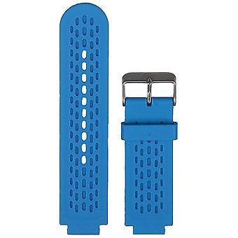 Watch strap made by strapsco for garmin vivoactive blue silicone watch strap