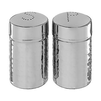 Mixology Hammered Salt and Pepper Shaker Set