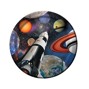 8 Outer Space Blast Printed Paper Party Plates