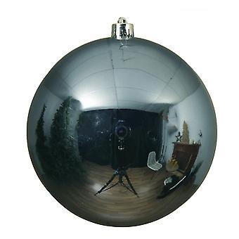 Enkele blauwe steen 14cm Shatterproof kerstboom bauble decoratie