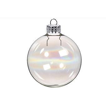 20 füllbare 35mm schillernde Glas Weihnachtsschmuck für Baum Dekoration