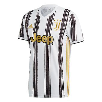 adidas Juventus 2020/21 Mens Short Sleeve Home Football Camicia Bianco/Nero