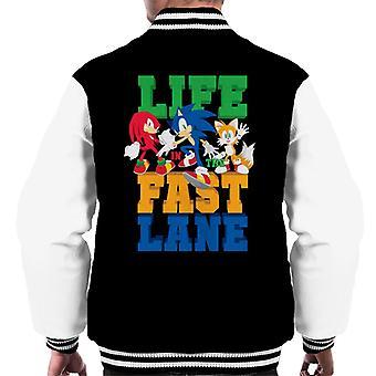 Sonic The Hedgehog Life In The Fast Lane Men's Varsity Jacket