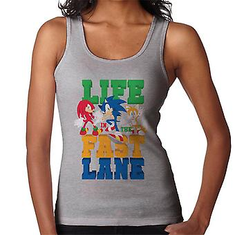 Sonic The Hedgehog Life In The Fast Lane Women's Vest