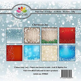ديكسي كرافت 6x6 بوصة ورقة حزمة عيد الميلاد الفرح