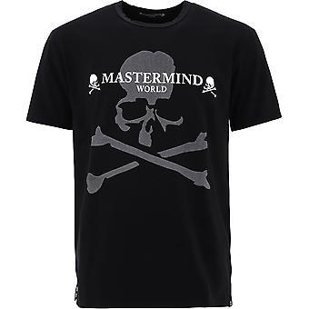 Mastermind World Mw20s05ts021016 Men's Black Cotton T-shirt