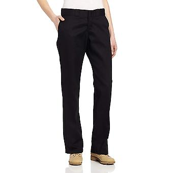 Dickies Women's Original Work Pant with Wrinkle And Stain Resistance,Black,12...