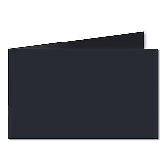 Dark Blue. 128mm x 356mm. 5x7 (Short Edge). 235gsm Folded Card Blank.