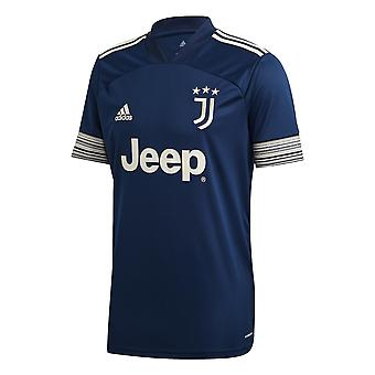 adidas Juventus 2020/21 Mens Short Sleeve Away Football Shirt Bleu Marine