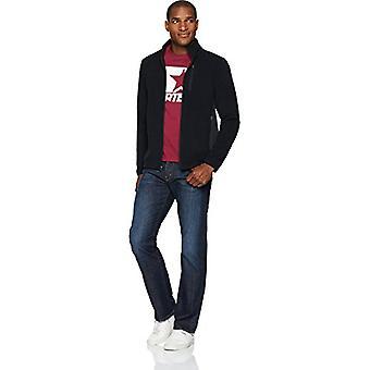 Starter Men's Polar Fleece Jacket, Exclusive, Black, Medium