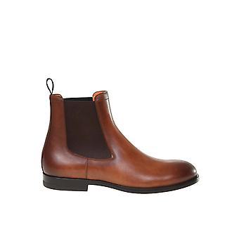 Santoni Mgnp17335smoiclbm48 Men's Brown Leather Ankle Boots