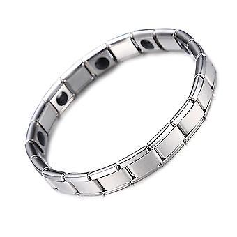 Stainless Steel, Magnetic H Power Health Bracelets & Bangles