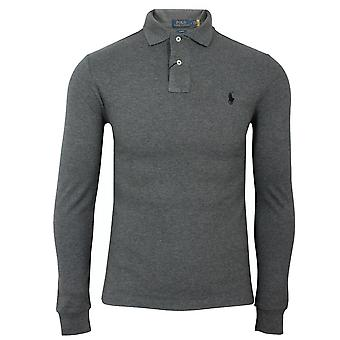 Ralph lauren men's long sleeve grey polo shirt