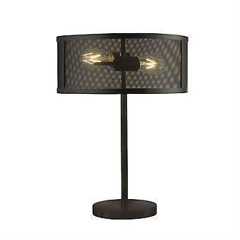 Searchlight Fishnet - 2 Light Table Lamp Mesh Matt Black, E27
