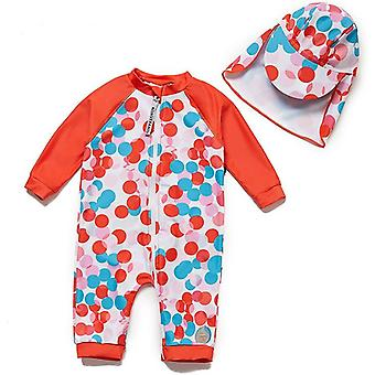Bonverano Baby Girls UPF 50+ Sun Protection Long Sleeves Zipper Sunsuit