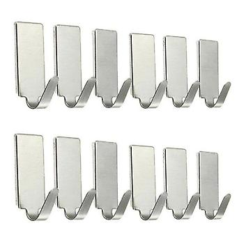 Stainless Steel, Self Adhesive Wall / Door Hook Hanger