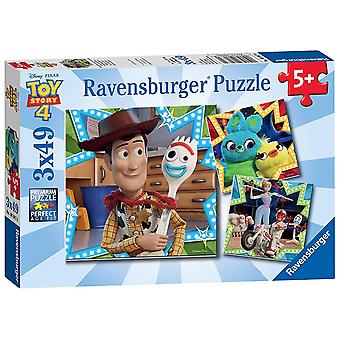 Ravensburger Toy Story 4, 3 x 49pc Jigsaw Puzzles