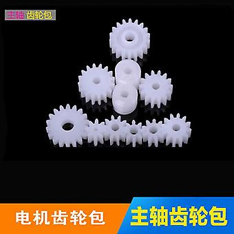 Plastic Diy Assembly Gear Set - Single Double Layer Crown Shaft Axle Sleeve Tooth Strip