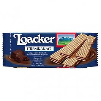Loacker - Chocolate Quadratini Wafer Biscuits 125g x 12