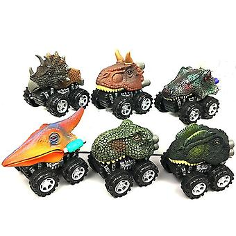 Copiiăs Dinosaur Model Mini Toy Car Înapoi