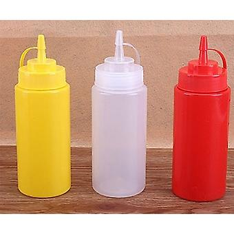 Dispensing Bottle Mayonnaise Squeeze With Cap Plastic Kitchen Cooking Tools