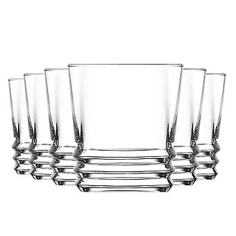 LAV Elegan Ridged Whisky Tumbler Bril - 315ml - Pak 12 whiskyglazen