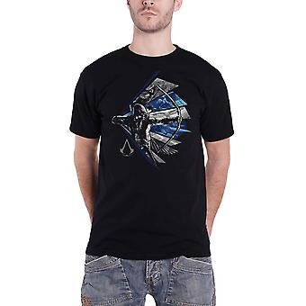Assassins Creed T Shirt Legacy Bow Aiming Logo new Official Mens Black