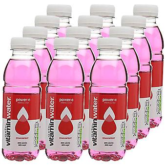 Glaceau Power-C Dragonfruit Vitamin C + Iron Water 500ml x 12