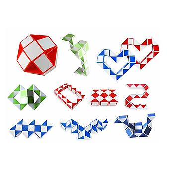 Mini Magic Cube Schlange Spielzeug, Blöcke Lineal Magic Snake Twist Puzzle